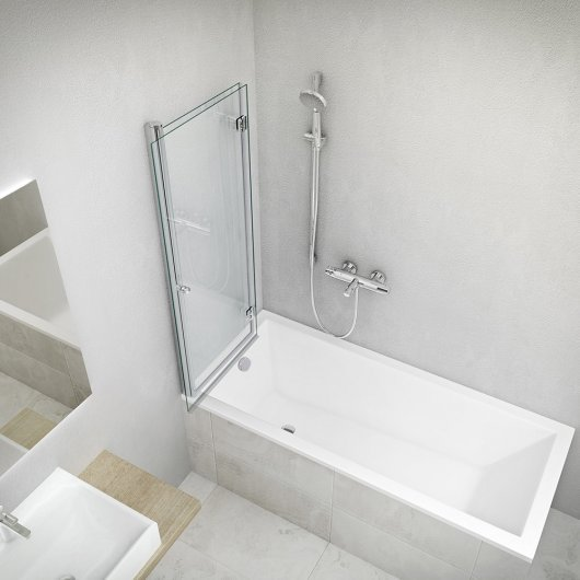 Bathtub KUBIC NEO SLIM with screen TZV2