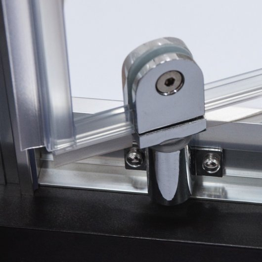 Lower swivel hinges in chrome finish