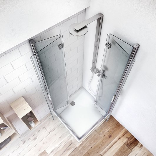 Shower enclosure TZOL1 + TZOP1 open door