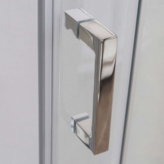 Multifunctional handle made of polished stainless steel